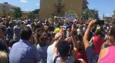 protesta fiume sarno